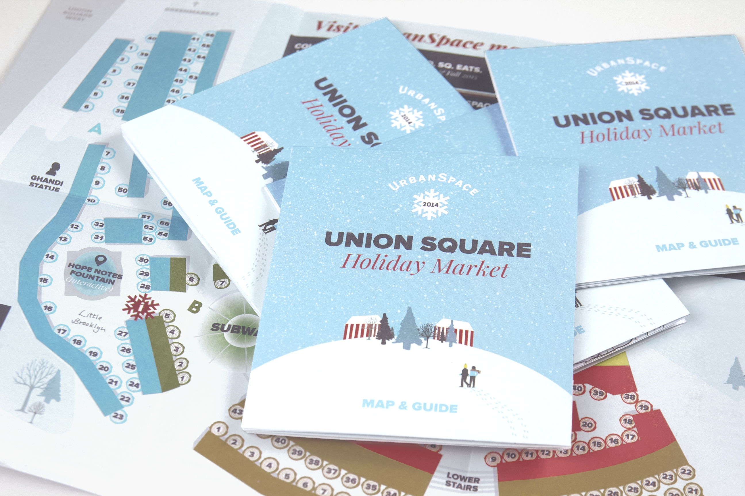 winter market union square editorial design by Tiny Rebels Graphic Design for Urban Space New York